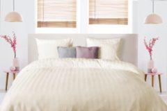 Elegance - Dekbedovertrek - 140x200/220 - Uni - Satijnstreep / Satijn Streep - Hotel Kwaliteit Satin Stripe - Ivoor