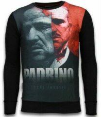 Zwarte Sweaters Local Fanatic El Padrino Two Faced - Digital Rhinestone Sweater
