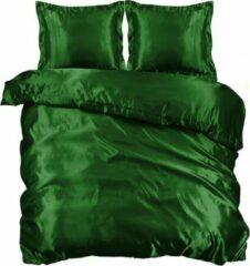 Beauty Silk - Dekbedovertrek Satijn - Groen - 200x200/220