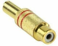 Valueline Connector RCA Female metaal goud/rood