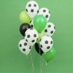 Groene Whoopdeals Ballonnenset Voetbal 13 stuks   Voetbalwedstrijd ballonnen  WK decoratie  EK decoratie  Themafeest voetbal   Party ballonnen   Kinderverjaardag   Kinderfeestje