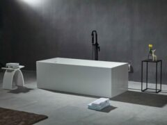 Mawialux vrijstaand bad | Solid surface | 170x73 cm | Mat wit | ML-112-VBMG-MW