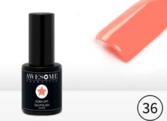 Rode Awesome Cosmetics Awesome #36 Licht Koraal Gelpolish - Gellak - Gel nagellak - UV & LED