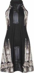 Church Column halter nek jurk zwart - L - Jawbreaker