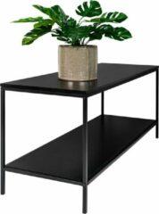 Hioshop Vita TV-meubel met 2 planken, zwart.
