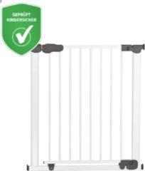 Reer I-gate automatisch sluitend klemhekje wit met extra brede doorgang
