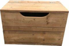 Bruine Wood4you - Speelgoedkist Kick Roasted wood 70Lx50Hx50D cm