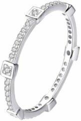 Tracelet Zilveren Ringen | Ring met Vierkante zirkonia's | Smal model | 925 Sterling Zilver | Bedels Charms Beads | Past altijd op je Pandora armband | Direct snel leverbaar | Miss Charming