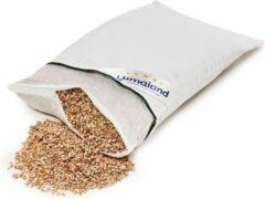 Witte Lumaland - Kussen met spelt vulling - Hoes met gestept katoen - Ritssluiting - 40 x 60 cm