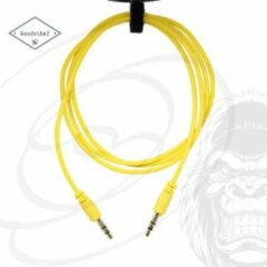 GoodvibeZ Audio Kabel 3.5mm Jack 1M male to male | Quality Cable | voor Auto Mobiel MP3-Speler Koptelefoon Speaker Mixer Headset | Geel