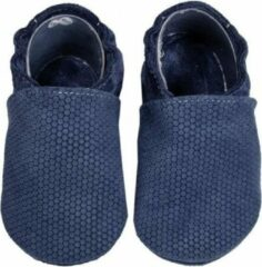 Hobea Babyslofjes blauw honingraat (Kruip)