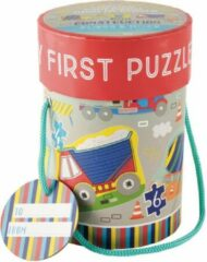 Floss & Rock Bouw - puzzels - 11 x 15 cm - 4 stuks