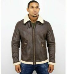 Warren Webber Wareen W Lammy Coat Heren - Imitatie Bontjas - Fake Fur jas - Bruin - Maat: XS