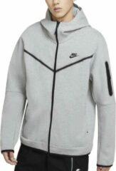 Grijze Nike Sportswear Tech Fleece Hoodie Full Zip Heren Vest - Maat L