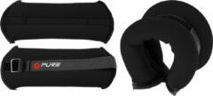 Zwarte Pure2Improve enkel-/polsgewicht P2I200630 Enkel- en polsgewichten-Unisex-Maat