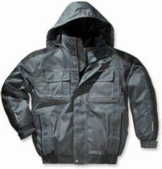 Generic Water en winddichte jas, grijs/zwart maat M