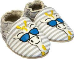 Grijze Rose et Chocolat babyslofjes Classic Giraffe Shadez Stripes Grey