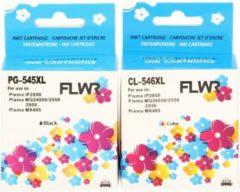FLWR - Inktcartridge / PG-545XL / CL-546XL multipack / Zwart en Kleur - geschikt voor Canon
