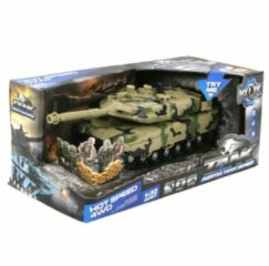Donkergroene Tank Met Geluid - Speelgoedvoertuig