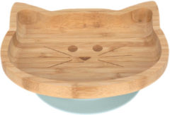 Reer Lässig 4Babies & Kids Bord bamboo/hout met zuignap silicone little chums cat