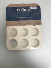 La Cucina Cupcake bakvorm -geel / wit