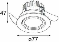 Modular Lighting K 77 Adjustable LED GE MO 14050309 Wit structuur