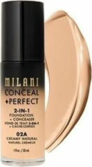 Milani Verbergen + Perfecte 2-in-1 Foundation + Concealer Covering Facial Foundation 02A Creamy Natural 30ml