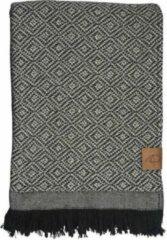 Mette Ditmer 'Mezzoforte' plaid - dekentje - zwart-wit 120 cm x 175 cm