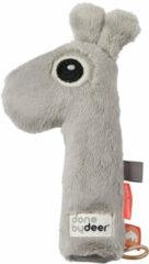 Grijze Done by Deer pieper rammelaar Raffi Grey knuffel 16 cm