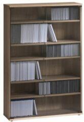 Bermeo CD DVD kast Maya L 110 cm hoog in sonoma eiken