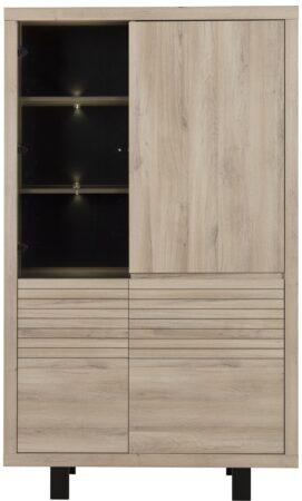 Afbeelding van Gamillo Furniture Vitrinekast Clay 185 cm hoog in Kronberg eiken