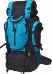 VidaXL Rugzak - 100% polyester - Zwart en blauw - 37 x 22,5 x 73 cm