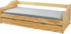 Bruine Interlink SAS Kinderbed met onderschuifbed 90x200 cm grenen Laura