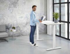 Kantoormeubelen.pro Elektrische Zit Sta Bureau - 120x80 cm - Wit onderstel - Wit blad