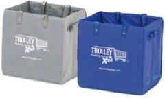 Merkloos / Sans marque Winkelwagen boodschappentas Trolley Bag XTRA grijs