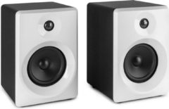 Studio monitor speakers - Vonyx SMN50W actieve studio monitor speakerset 140W - 5 inch - Wit