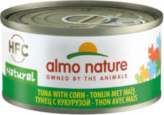 Almo Nature Hfc Cat Natural Blik 70 g - Kattenvoer - Tonijn&Mais Classic