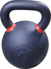 Zwarte Crossmaxx® Gietijzeren Powdercoated kettlebell 32kg