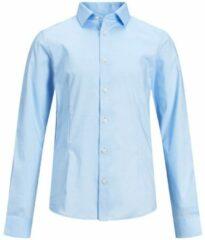 Lichtblauwe JACK & JONES JUNIOR JACK & JONES JPRPARMA SHIRT LS STS JR T-shirt - Maat 176
