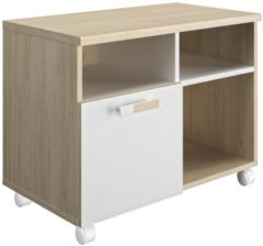 Gamillo Furniture Boekenkast Artefact 80 cm breed in eiken met wit