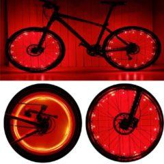 CM Lifestyle Wielverlichting - Set van 2 - LED verlichting fiets - Spaak verlichting wiel -Fietsverlichting - Rood licht - Fietswiel verlichting kinderen - Zichtbaarheid - Spaak verlichting LED - Spaakwiel LED verlichting - Fietslicht - Lichtsnoer