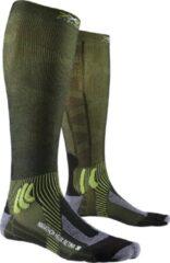 X-Socks - Marathon Helix Retina - Hardloopsokken maat 35-38, olijfgroen/zwart