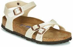 Witte Sandalen Kumba Flor Soft Footbed W by Birkenstock