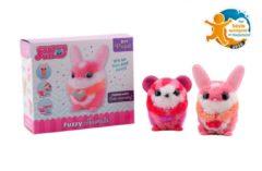 Johntoy BV Johntoy Diy-set Fuzzy Fun dieren, 3 assorti