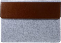 Shop4 - MacBook Pro 13-inch (2009-2012) Hoes - Sleeve Leer en Wolvilt Bruin