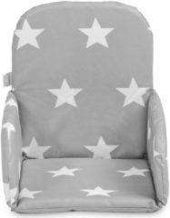 Grijze Jollein Stoelverkleiner Little Star dark grey 019-531-65009