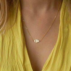 Goudkleurige Van Santen Fashion Charm Jewelry Ketting met hanger Hand van Fatima goudkleur.