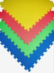 KORA 4 stuks Beschermende matten ROZE 60x60x1cm Fitness mat - beschermmat - sportmat - puzzelmat - vloermat – bescherming Bodem bescherming - Ondertegels - Ondervloer - Ondergrond - Foam tegels - Matten - Puzzelmat voor zwembad – zwembadtegels