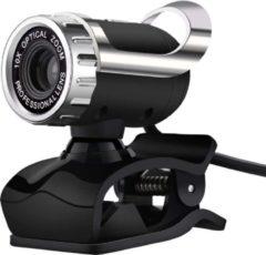 Zwarte Indena Webcam WB04 5.0 megapixel - 480P HD camera voor pc Laptop Desktop Computer met microfoon - USB 2.0 'plug & play'