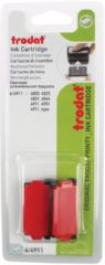 Rode Trodat vervangkussen rood, voor stempel 4911/4820/4822/4846, blister met 2 stuks